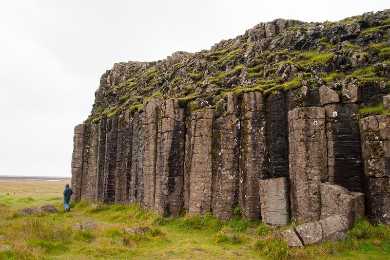 more basalt columns west of Kirkjubæjarklaustur