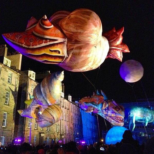 """Life Eats Life"" from Big Bang, last installment of #Edinburgh #Hogmanay #blogmanay"