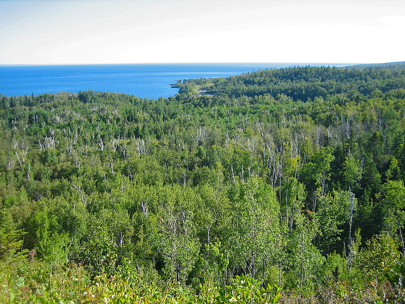 View from the Superior Hiking Trail at Split Rock.