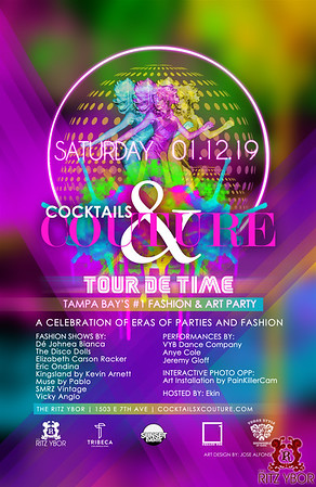 Cocktails & Couture 2019: Tour de Time Fashion + Art Party