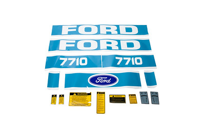FORD 7710 SERIES BONNET DECAL SET