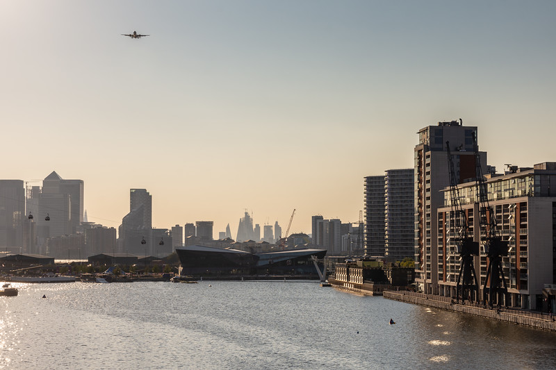 Royal Victoria Dock and the London skyline