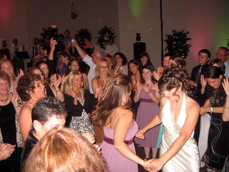 Abby dances with bridesmaid Sarah