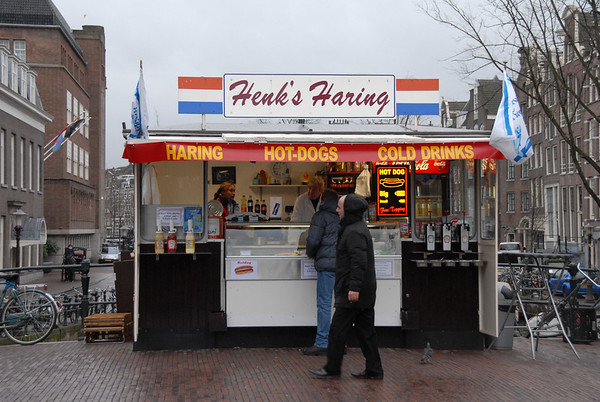 Herring cart in Amsterdam