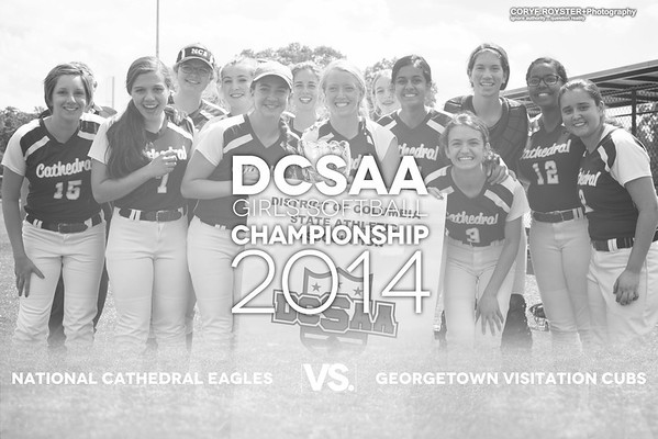 DCSAA Softball Championship 2014 National Cathedral vs Georgetown Visitation