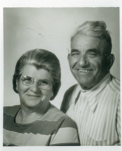 Maria Julia and Vittorio. Passport picture in 1972 for Buenas Aires, South America. Vittorio and his brother, Mauricio, hadn't seen each other in 60 years.
