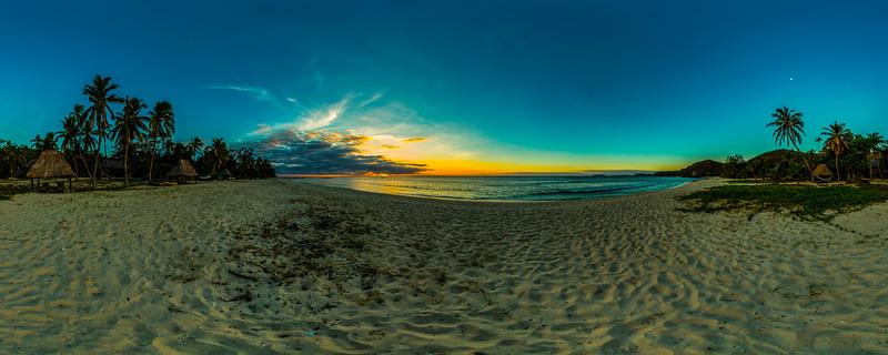 Beach Sunset at Yasawa Island Resort & Spa