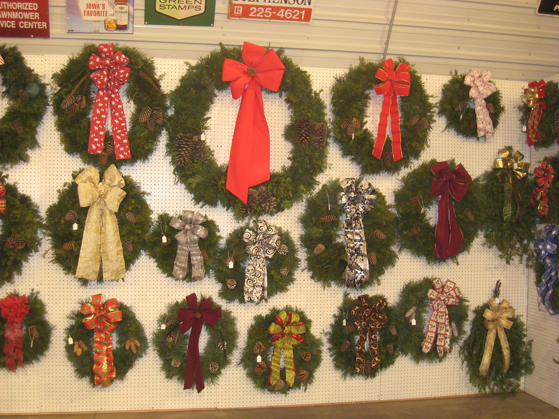 The wreath wall is ready
