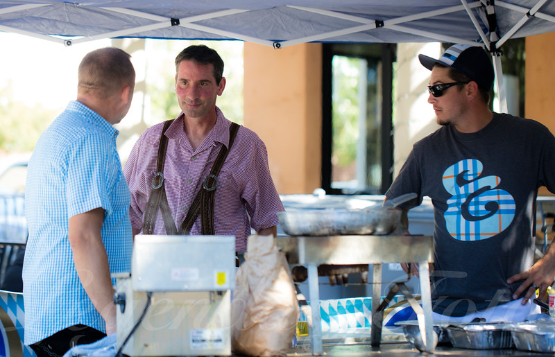 Holger, Michael, and Gary Cooking at Oktoberfest 2015