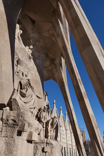 More of the the Passion Façade entrance at Sagrada Família.