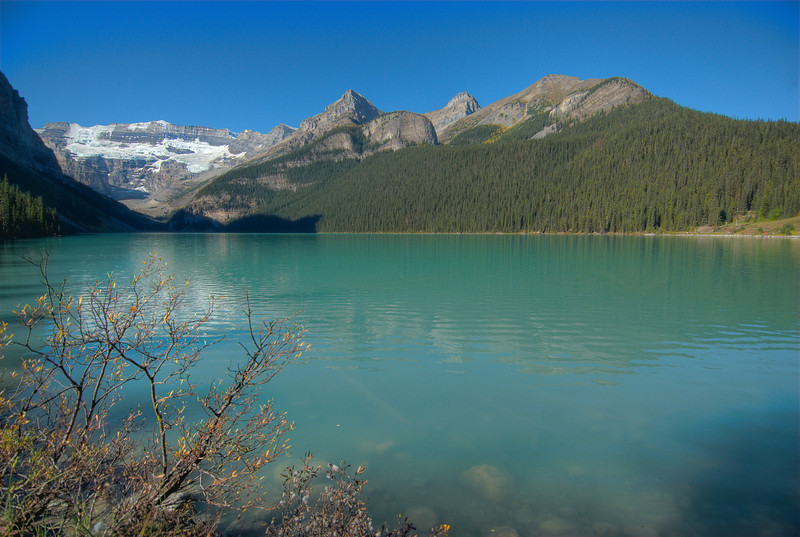 Moraine Lake in the Canadian Rockies in Alberta, Canada