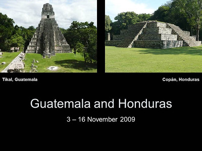 2009 Guatemala and Honduras
