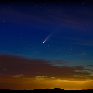 Comet Neowise and Her Sunsets