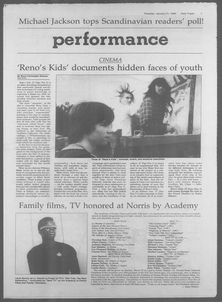 Daily Trojan, Vol. 106, No. 8, January 21, 1988