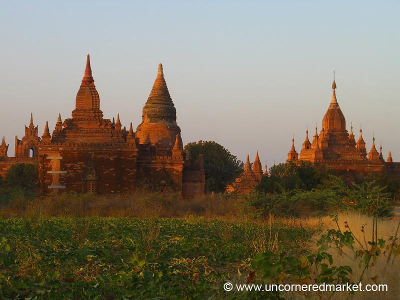 Pagodas and Stupas at Dusk - Bagan, Burma