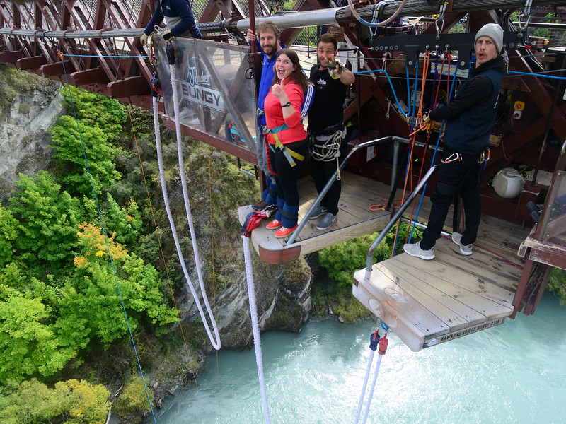 Tandem bungee jumping in Queenstown