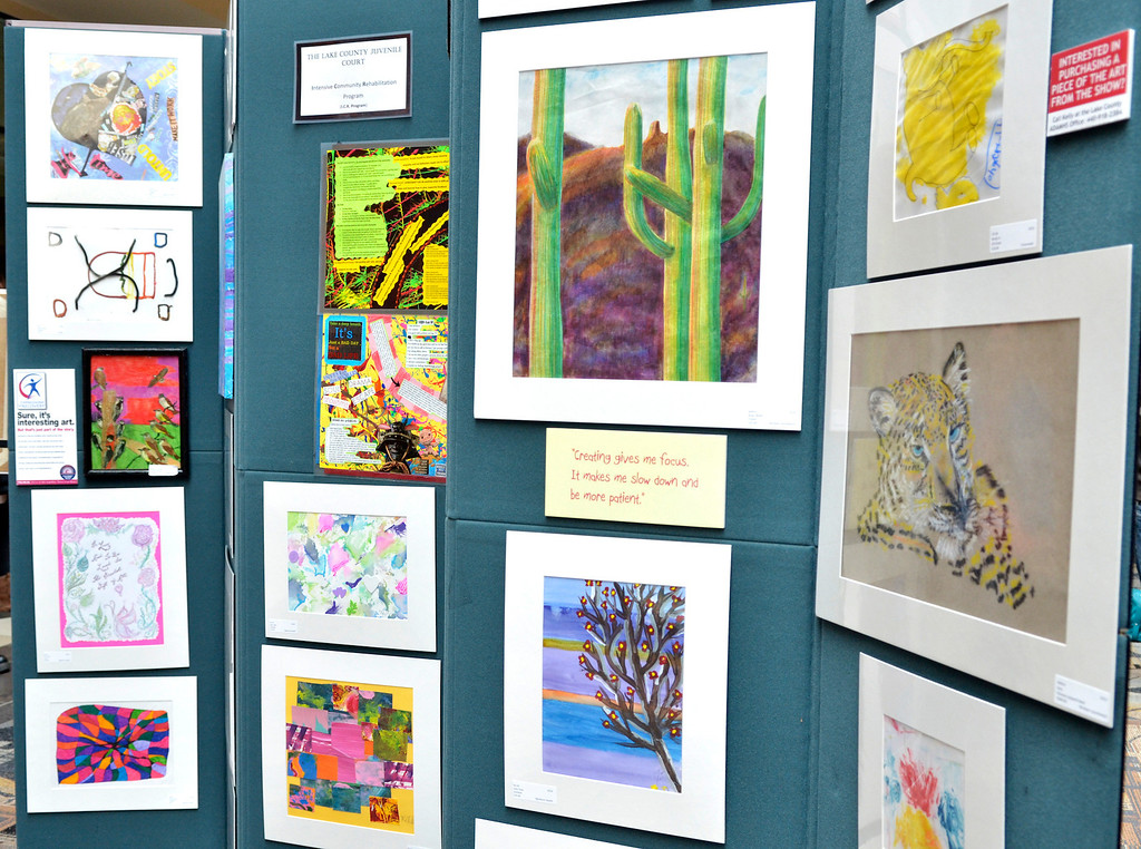 """. Jeff Forman/JForman@News-Herald.com The \""""Expressions of Recovery\"""" exhibit at the Great Lakes Mall is sponsored by the Lake County ADAMHS Board."""