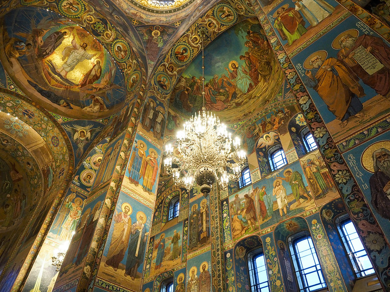 Inside the Church of Our Savior on the Spilled Blood