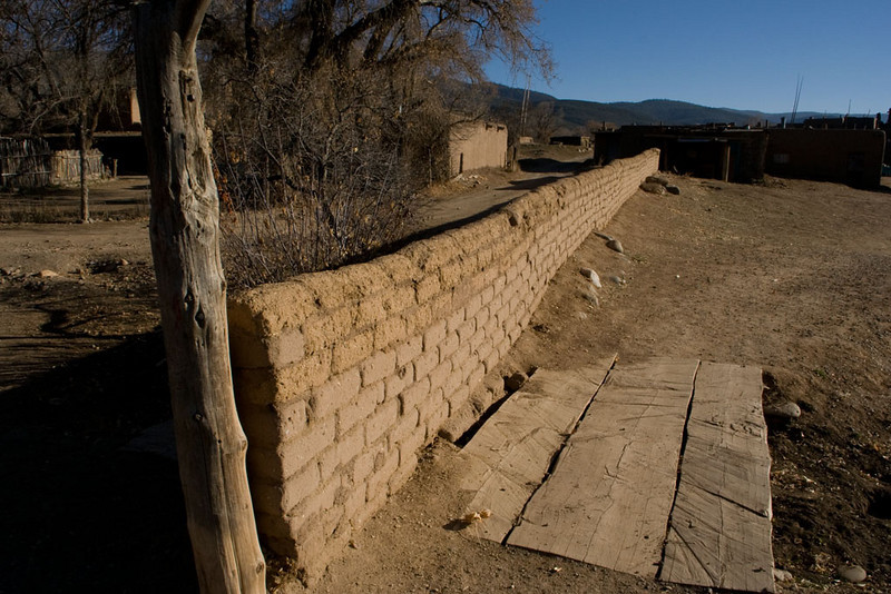 An adobe wall surrounds the central, sacred part of town. In past centuries, when the residents had to be wary of attackers, the wall was twice as high.