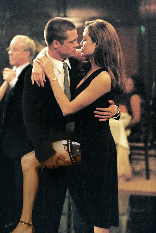 ". In this undated file photo provided by Twentieth Century Fox, as John Smith, played by Brad Pitt, and Jane Smith, portrayed by Angelina Jolie, do a sexy tango, more of their secrets are uncovered in ""Mr. & Mrs. Smith.\"" (AP Photo/Twentieth Century Fox, Stephen Vaughn, File)"