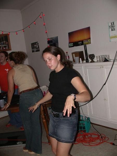 Amanda dances drunkenly