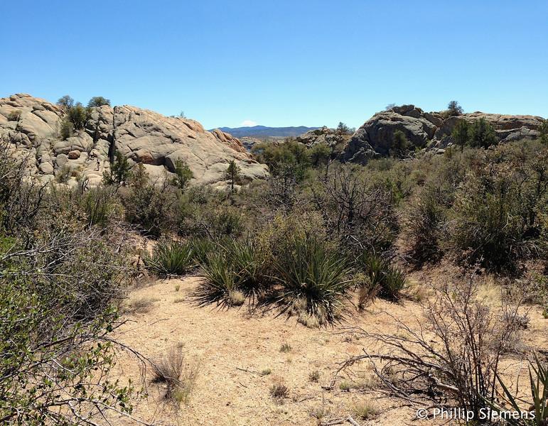 Hiking in Granite Dells area near Willow Lake in Prescott, AZ