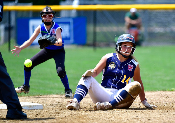 7/25/2019 Mike Orazzi | Staff Connecticut's Mya Dawid (14)during the Eastern Regional Softball Tournament at Breen Field in