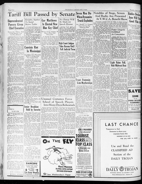 Daily Trojan, Vol. 25, No. 149, June 05, 1934
