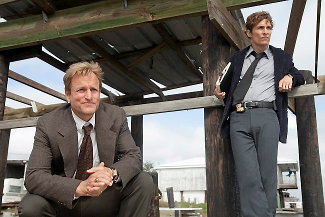 """. <p>10. (tie) �TRUE DETECTIVE� <p>Awfully hard to watch the finale on HBO No. (previous ranking: unranked) <p><b><a href=\'http://www.hollywoodreporter.com/live-feed/hbo-go-crashes-true-detective-687087\' target=\""""_blank\""""> HUH?</a></b> <p>   (Jim Bridges/HBO)"""
