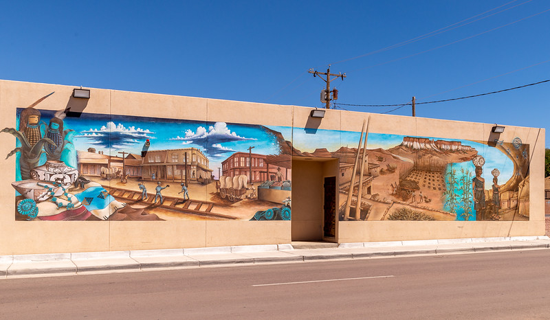 mural dedicated to the Zuni Native Americans