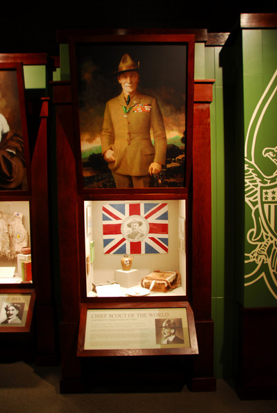 Exhibit inside the National Scouting Museum in Irving, Texas