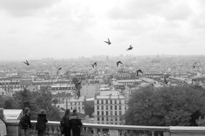 Black and white-Paris