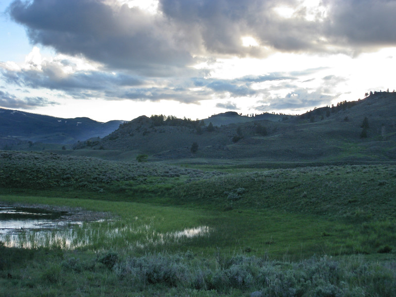 Sunset is approaching at Slough Creek