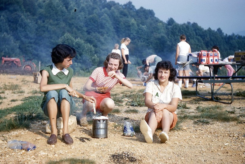 1960  - Girls Camp - Hobo Breakfast.jpg