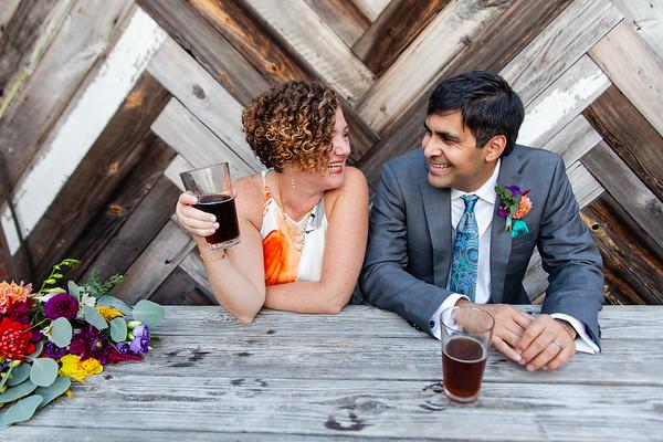 Martha & Kush | Durham Warehouse District Couple's Photography