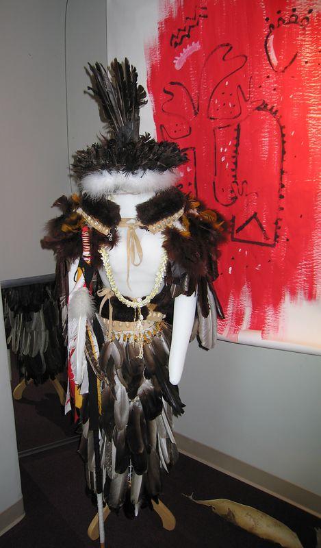 Tongva shaman regalia, Cooper Regional History Museum, Upland, 2 Jul 2005.