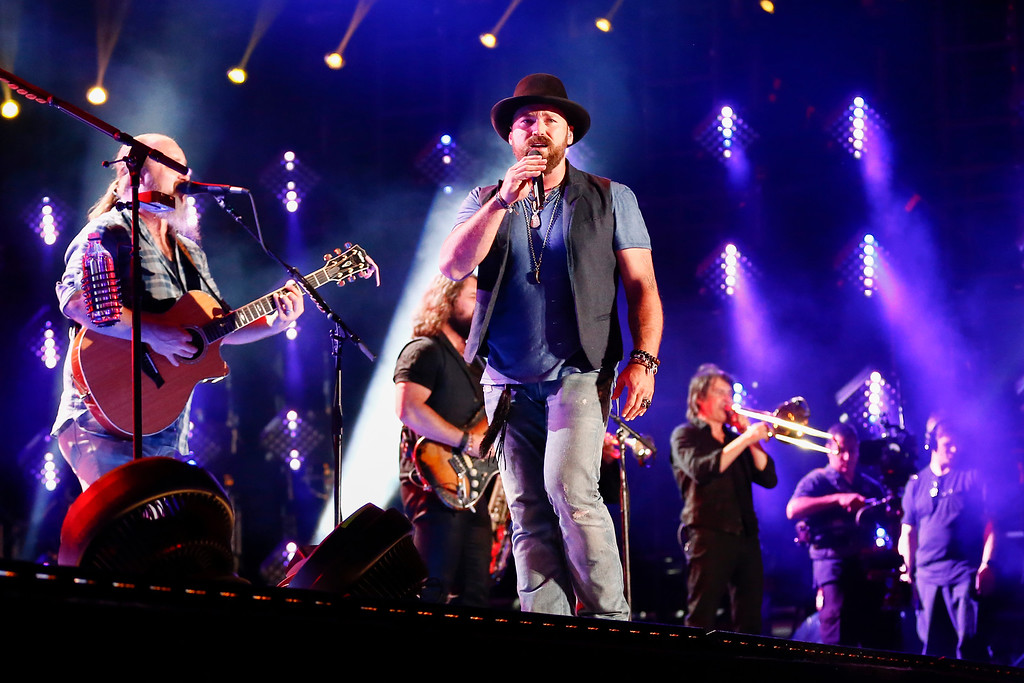 . Zac Brown, center, of the Zac Brown Band performs at LP Field at the CMA Music Festival on Friday, June 12, 2015, in Nashville, Tenn. The band will be at Blossom Music Center on June 24. For more information, visit