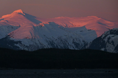 January 2011 - Alpenglow on the Chilkat Mountain Range #1 Cynthia Meyer, Chilkat Mountain Range, Alaska
