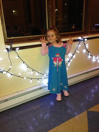 Gracie posing at Meadowbrook Xmas party