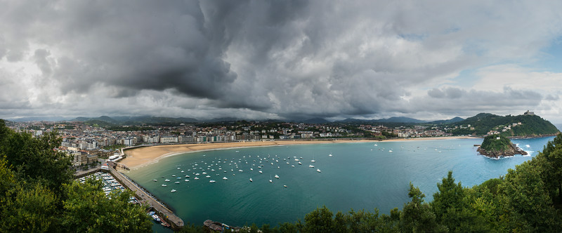 View of Biscay Bay and San Sebastian