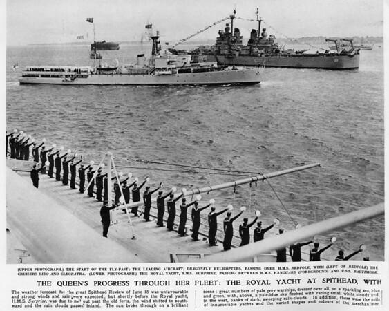USS BALTIMORE 1953