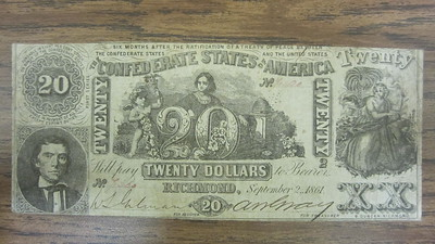 Confederate Currencies Bought