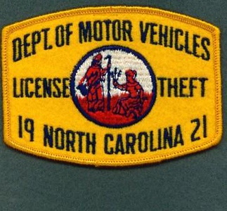 North Carolina License Theft
