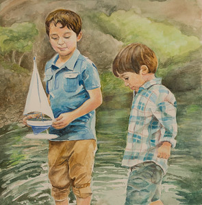 0107 Water Color Painting by J.C.
