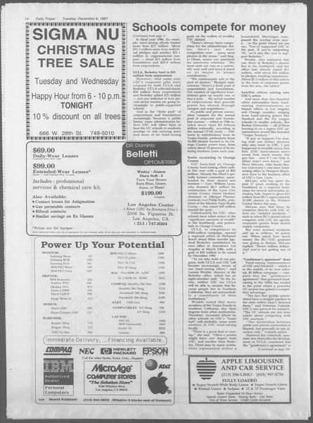 Daily Trojan, Vol. 105, No. 65, December 08, 1987