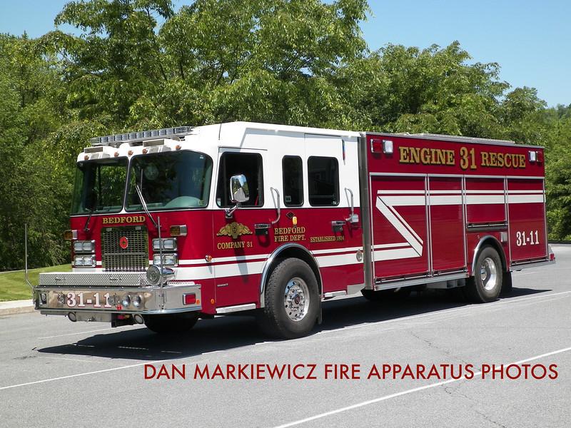 BEDFORD FIRE DEPT. ENGINE RESCUE 31-11 2008 SPARTAN/CRIMSON PUMPER RESCUE