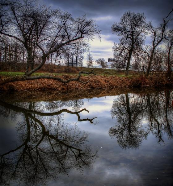 reflection - conestoga river on cabin drive(p).jpg
