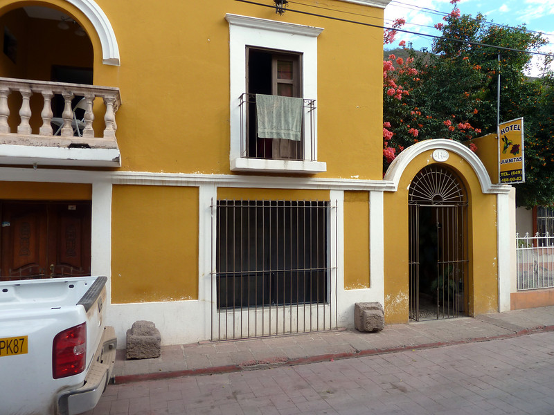 Hotel Juanitas along the street.