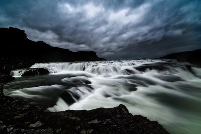 Gullfoss Near Dark