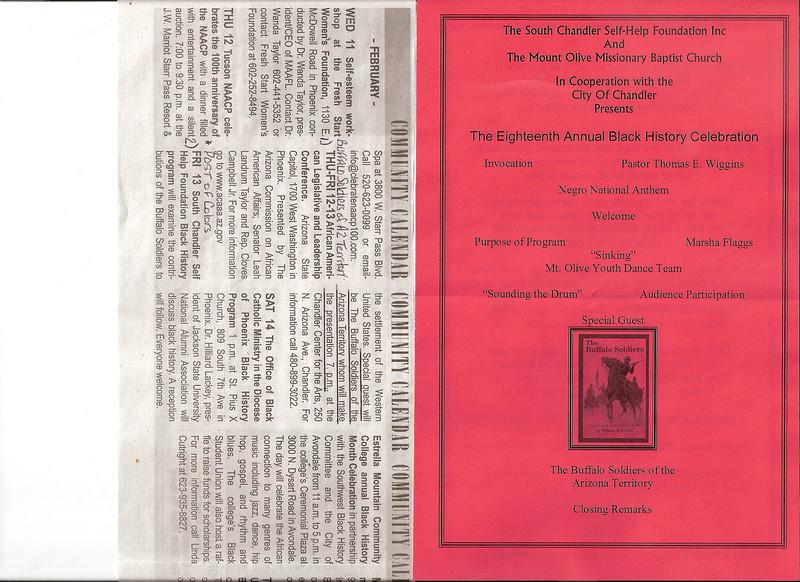 "ARIZONA BUFFALO SOLDIERS, MESA, AZ...Chandler Center for the Arts, Chandler, AZ - ""Black History Month"". Buffalo Soldiers of the Arizona Territory - Ladies and Gentlemen of the Regiment. February 13, 2009"